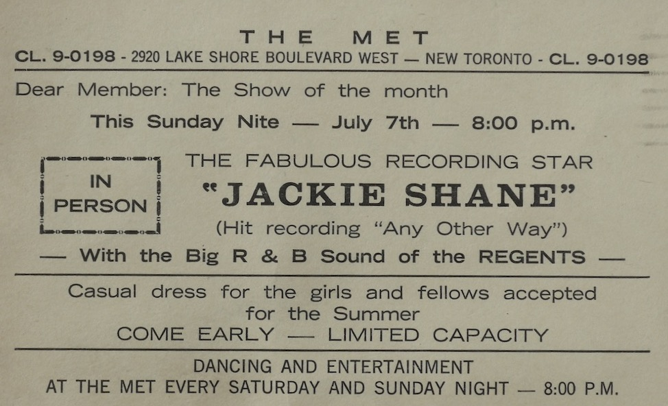 Jackie Shane the RegentsThe Met 7July63