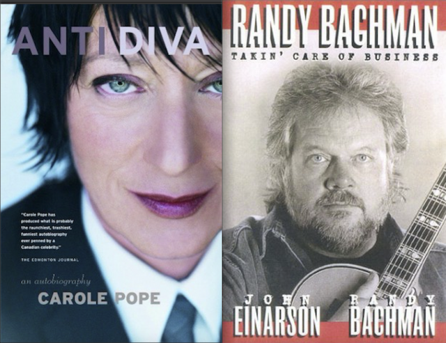 Book Reviews: Carole Pope and Randy Bachman