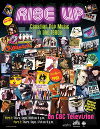 TV Documentary: Rise Up - Canadian Pop Music in the 1980s